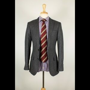 NEW #J.Crew #Ludlow 36R Gray Check Sport Coat 45-H